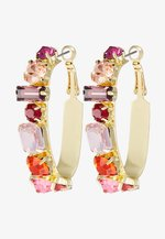 ASIZA - Earrings - gold-coloured/red