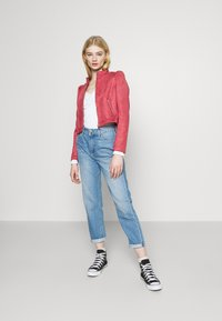 ONLY - ONLSHELBY CROP BONDED JACKET  - Giacca in similpelle - baroque rose - 1