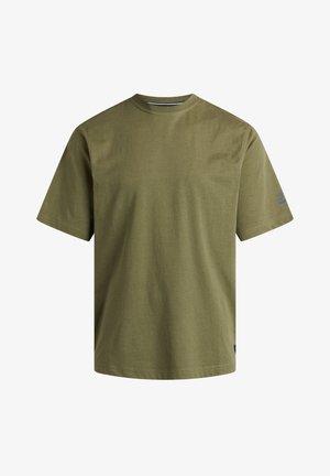 EDDY - T-shirt basic - forest meliert