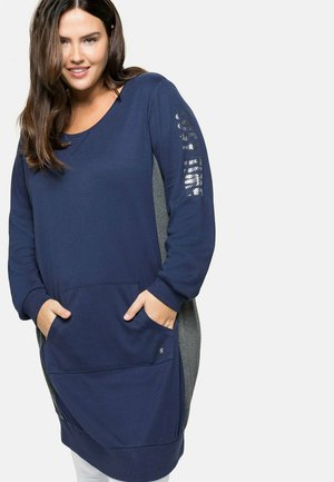 RELAX - Jersey dress - marine-grau