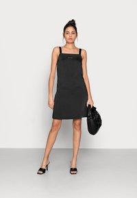 Calvin Klein Jeans - WIDE STRAPS DRESS - Cocktail dress / Party dress - black - 1