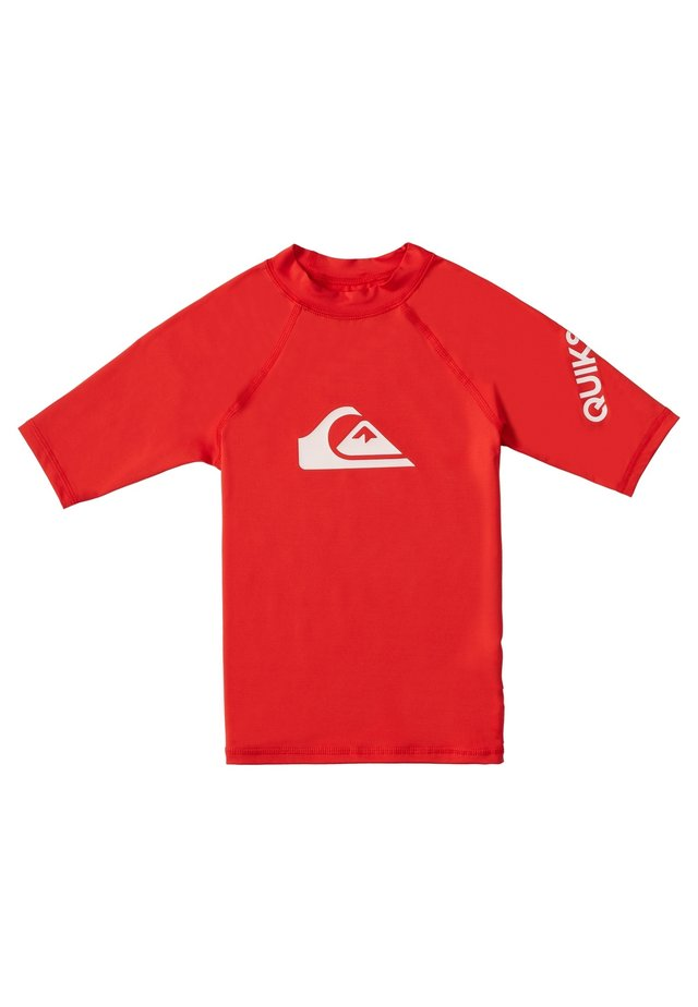 QUIKSILVER™ ALL TIME - KURZÄRMLIGER RASHGUARD MIT UPF 50 FÜR JUN - Rash vest - high risk red