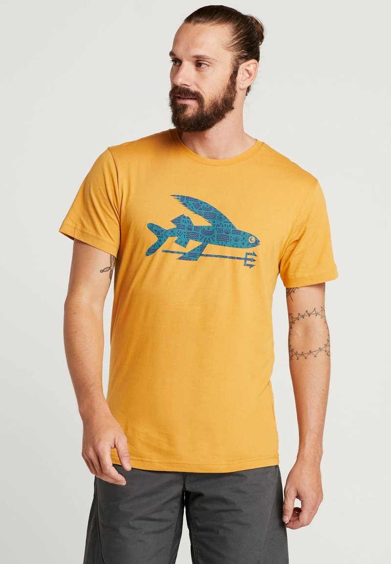 Patagonia - FLYING FISH - T-shirt med print - glyph gold