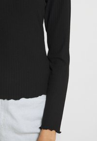 ONLY - ONLNELLA O NECK - Long sleeved top - black - 5