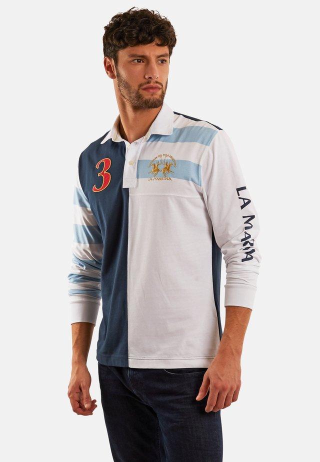 PIERO - Polo shirt - navy/optic white
