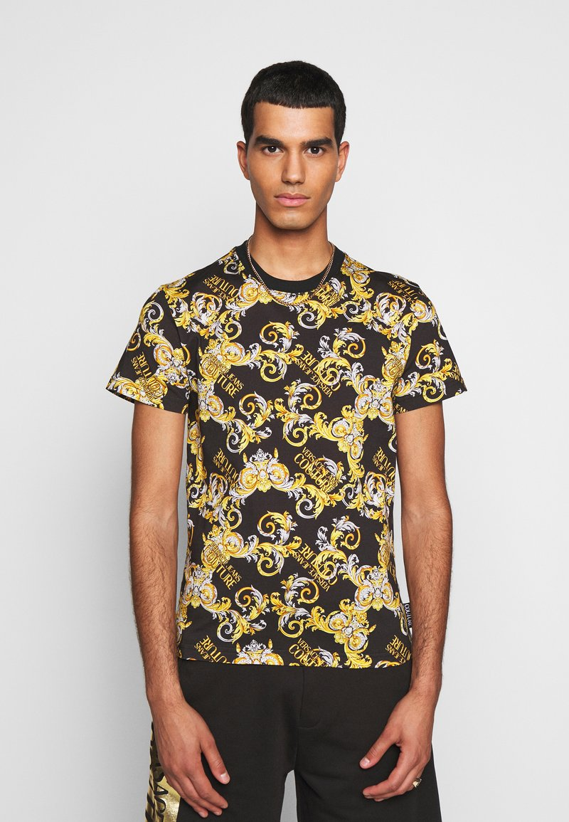 Versace Jeans Couture - PRINT NEW LOGO - T-shirt con stampa - nero