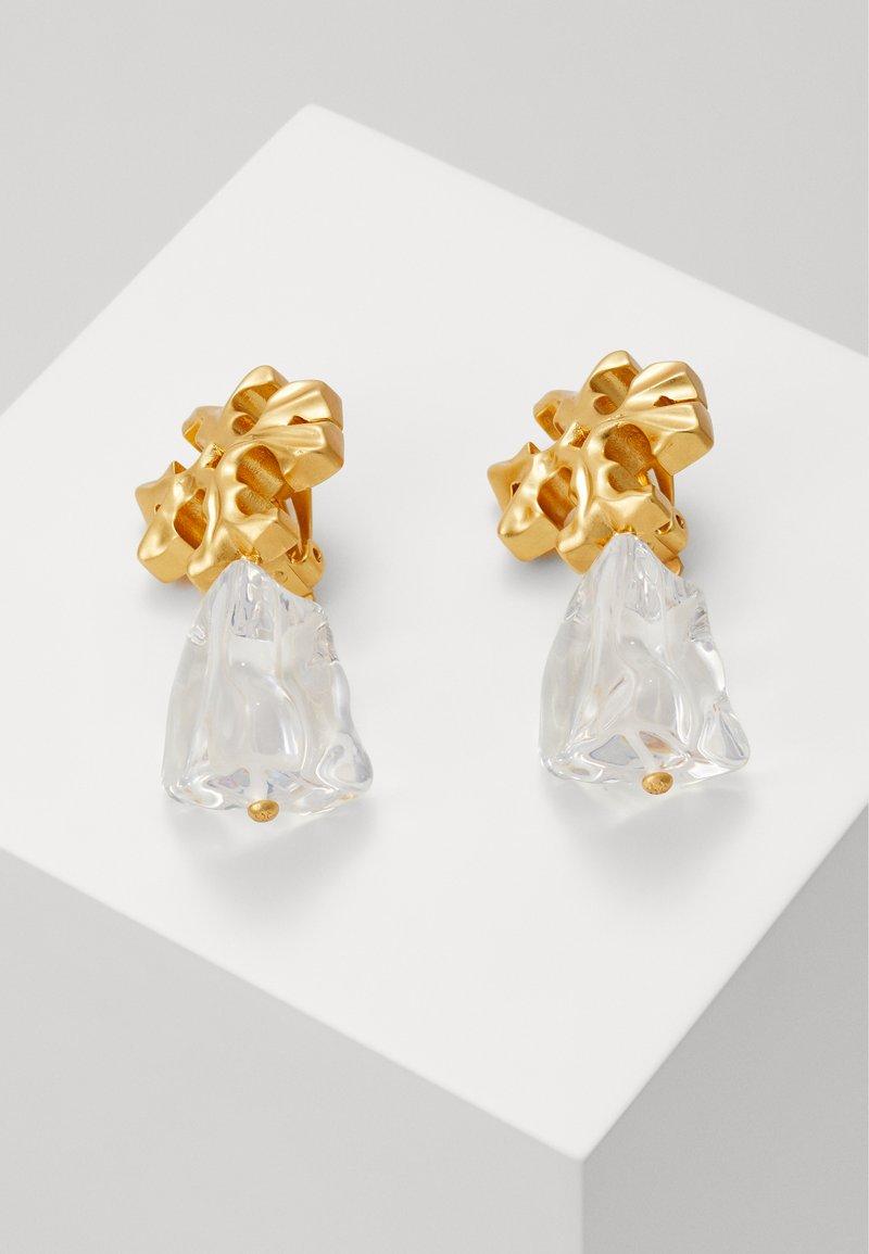 Tory Burch - ROXANNE DROP EARRING - Orecchini - gold-coloured/clear