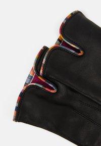 Paul Smith - GLOVE SWIRL PIPING - Gloves - black - 1