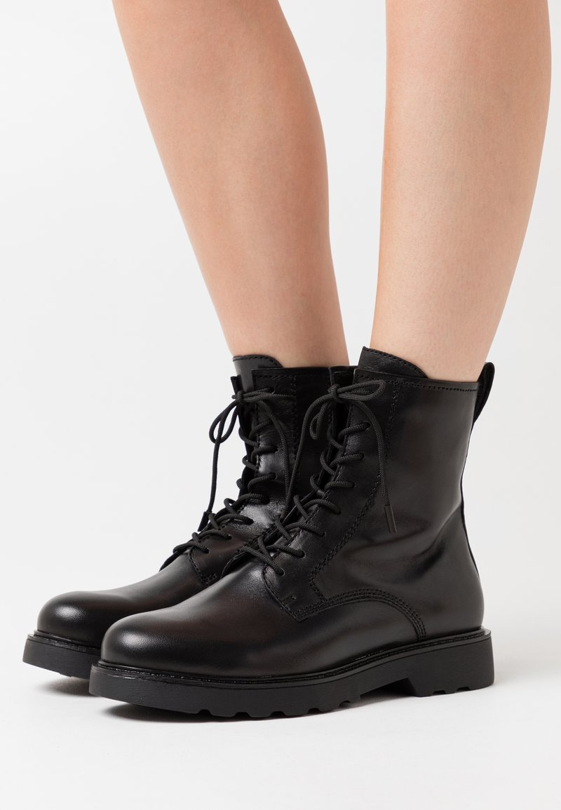 Tamaris - Lace-up ankle boots - black