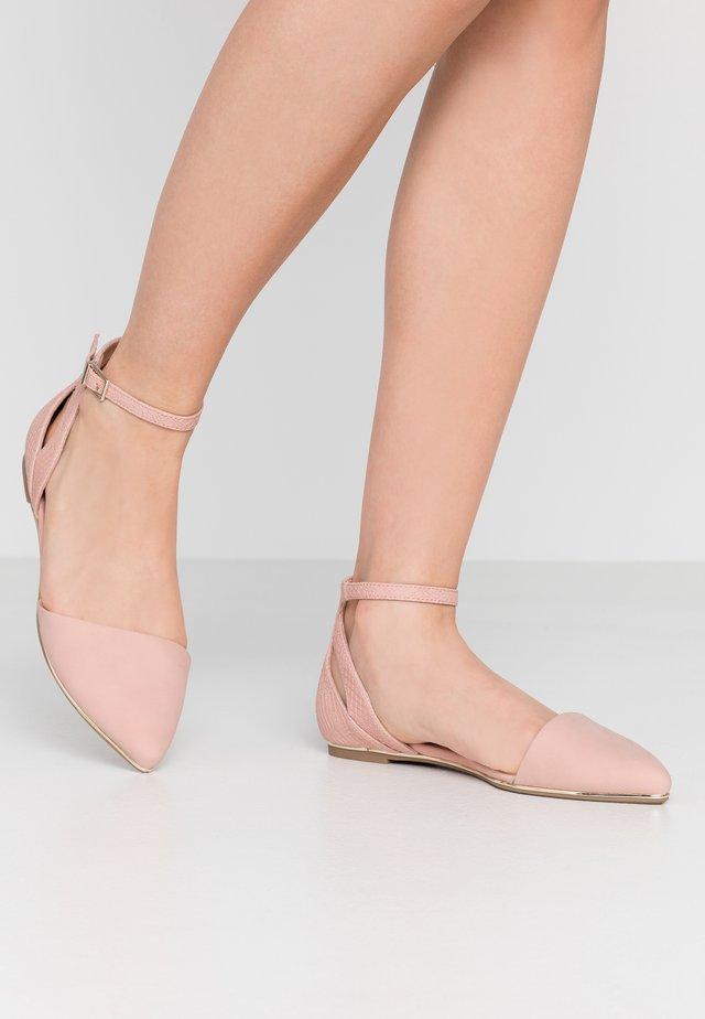 CHARLOTE - Ankle strap ballet pumps - light pink