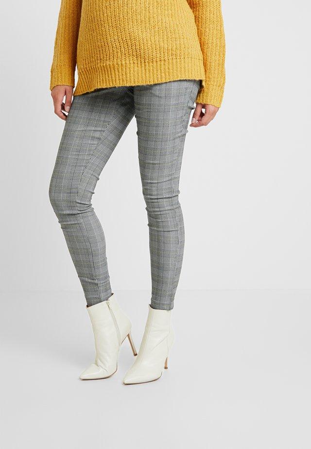 CHARLES CHECK BENGALINE TROUSER - Spodnie materiałowe - grey