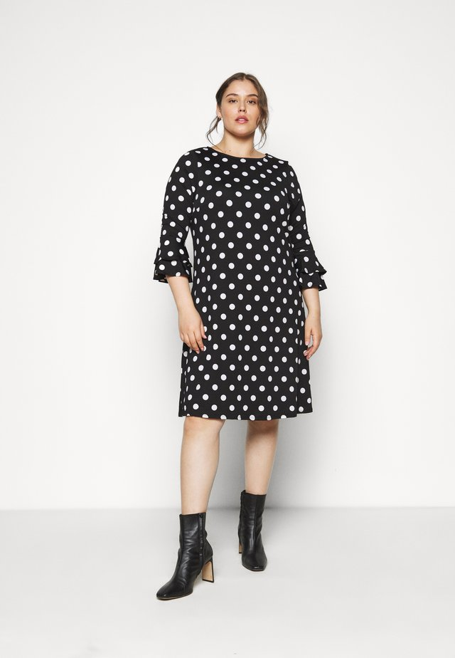 FRILL SLEEVE DRESS - Kjole - black
