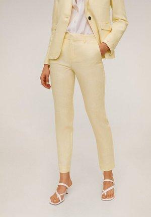 BORELI - Spodnie materiałowe - yellow