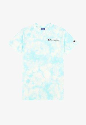 Print T-shirt - pastel blue tye dye