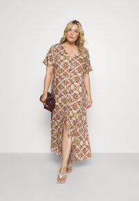 ONLY Carmakoma - CARDES LIFE DRESS - Maxi dress - oatmeal - 1