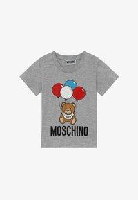 MOSCHINO - Print T-shirt - grigio chiaro - 2