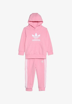 TREFOIL HOODIE SET UNISEX - Survêtement - light pink/white