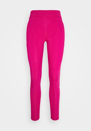 Legging - fireberry/white