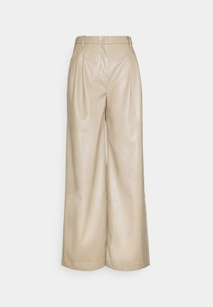 MARIE WIDE PANTS - Trousers - sand
