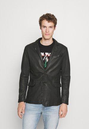 FOXLEY - Kožená bunda - black