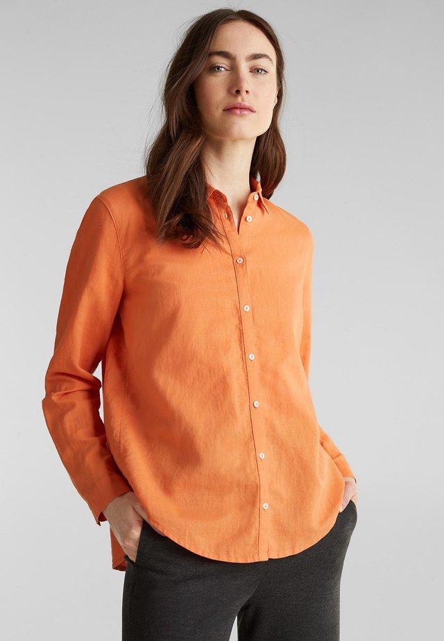 FASHION  - Button-down blouse - rust orange