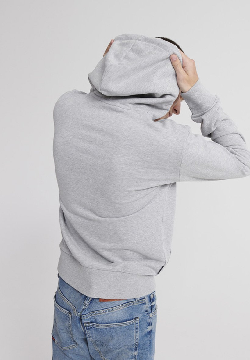 Superdry Bluza Z Kapturem - Gray