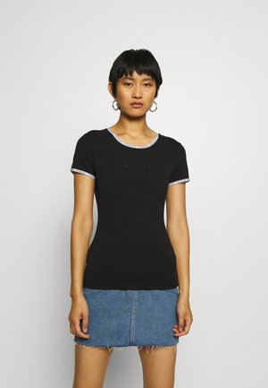 LOGO TRIM - Print T-shirt - black