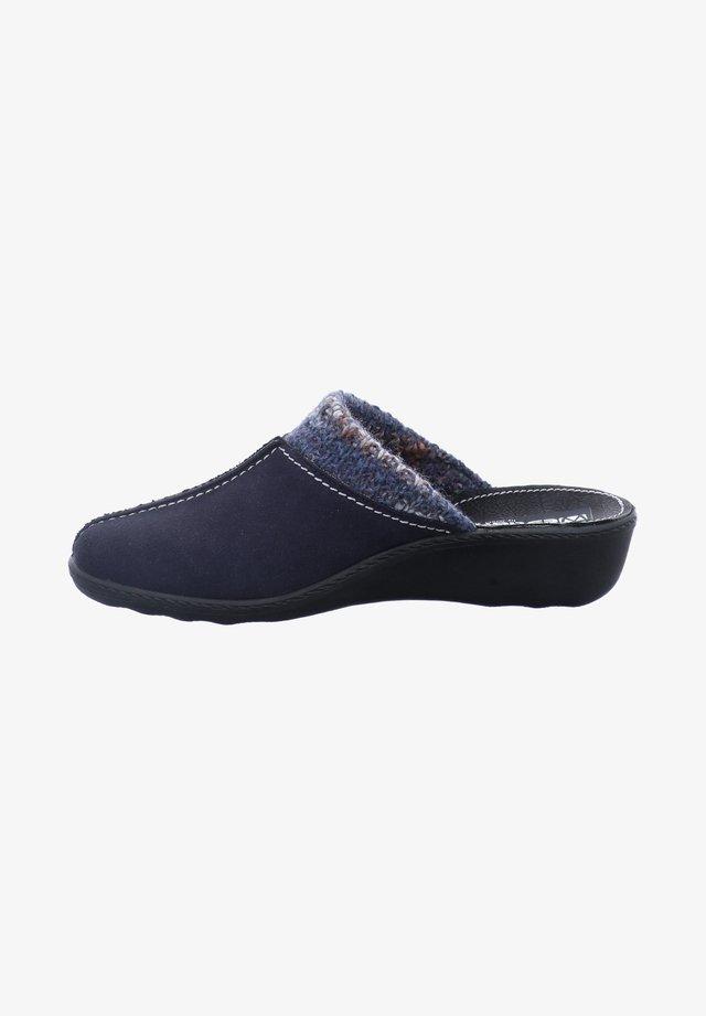 Slippers - dunkelblau kombi