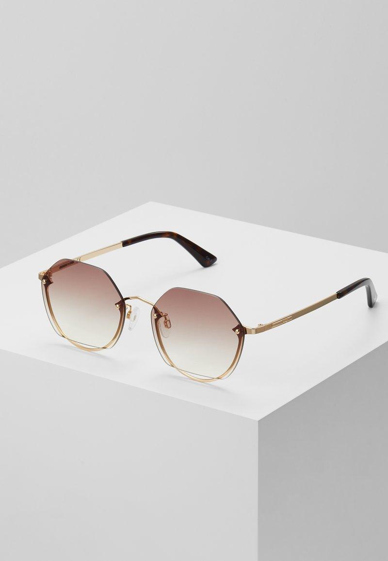 McQ Alexander McQueen - Okulary przeciwsłoneczne - gold-coloured/brown