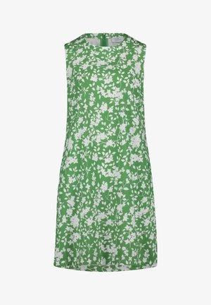 MIT REISSVERSCHLUSS - Robe d'été - green/cream