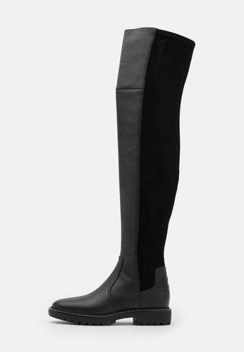 MILLER LUG SOLE BOOT - Kozačky nad kolena - perfect black