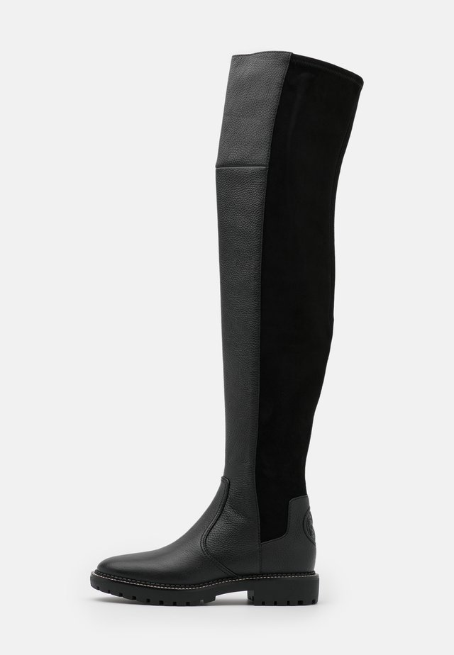 MILLER LUG SOLE BOOT - Overknees - perfect black