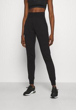 HIGH WAIST PANTS - Joggebukse - black beauty