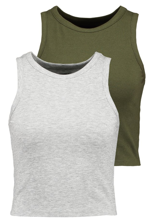 2 PACK  - Top - mottled grey/khaki