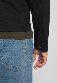 Another Influence - SLIM FIT JACKET - Denim jacket - black - 6