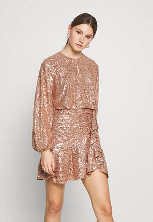 ANDREA FLIPPY MINI DRESS - Cocktailklänning - copper