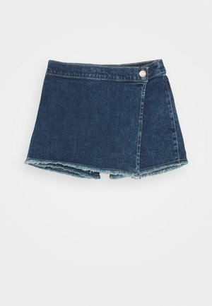 WRAP SKORT - A-line skirt - dark wash