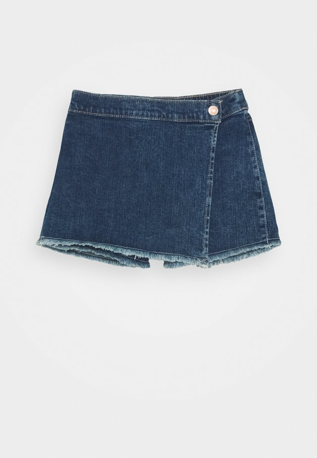 WRAP SKORT - Gonna a campana - dark wash