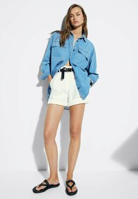 Massimo Dutti - Button-down blouse - blue - 1