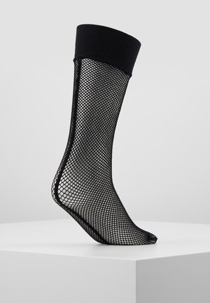 SEAMED HOLD UPS - Chaussettes - black
