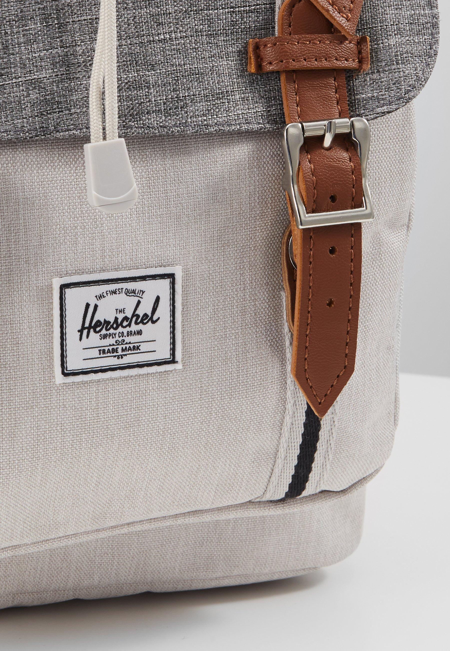 Herschel LITTLE AMERICA - Tagesrucksack - raven crosshatch/vapor crosshatch/tan/grau - Herrentaschen aEyKl