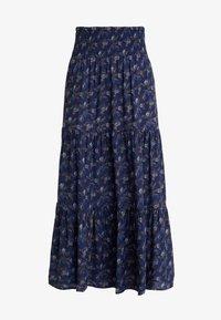 PEPPERCORN - SKIRT FLOWER PRINT - Maxi skirt - dark blue - 3