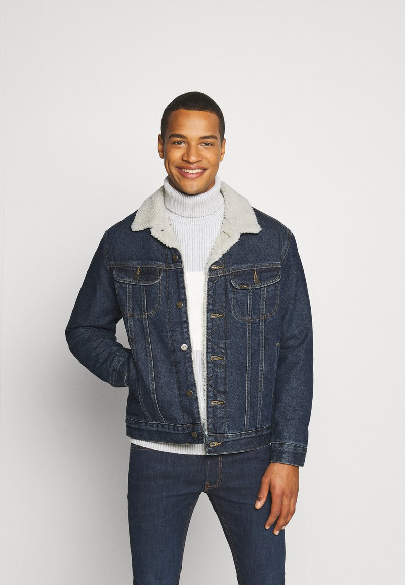 Lee - SHERPA  - Jas - dark blue denim
