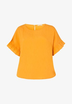 FRILL - Basic T-shirt - mustard yellow