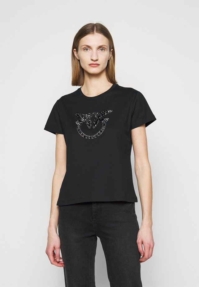 QUENTIN - T-shirt con stampa - black
