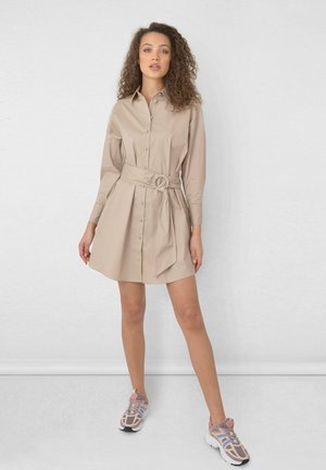 Shirt dress - stone
