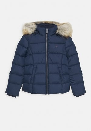ESSENTIAL BASIC JACKET - Bunda z prachového peří - blue