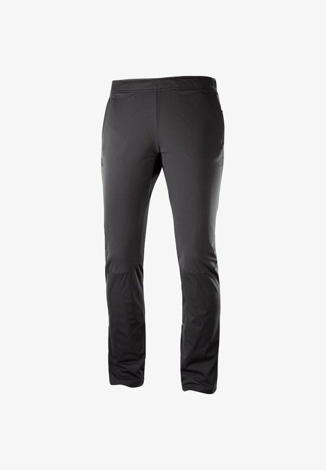 AGILE WARM PANT - Tracksuit bottoms - black