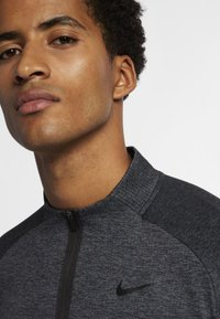 Nike Golf - DRY TOP HALF ZIP - Funktionströja - black/dark grey/black - 4
