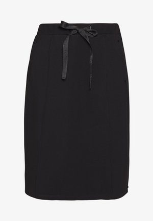 HIGH WAIST SKIRT IN CLEAN QUALITY - Pencil skirt - black